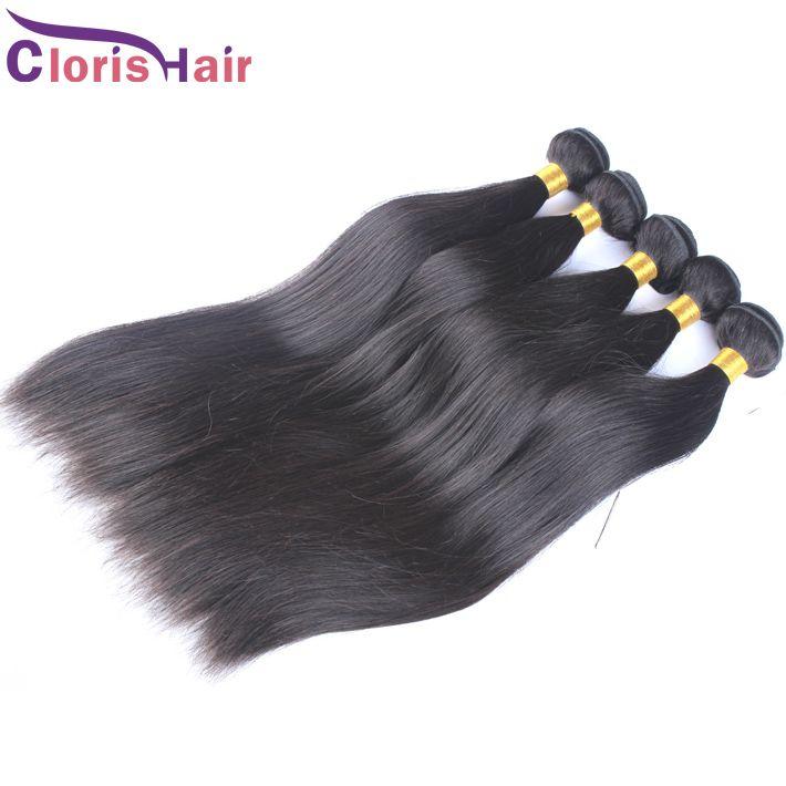 Decente qualidade macia Eurasian Cabelo Weaves reta de seda não transformados extensões do cabelo europeus Remi Humanos 3pcs Cabelo Cloris
