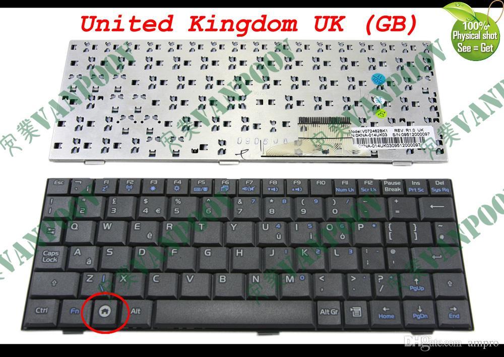 Nuova tastiera portatile per ASUS EeePC Eee PC 700 701 900 901 Nero Regno Unito Versione UK - V072462BK1 Versione: UK (GB) Italiano