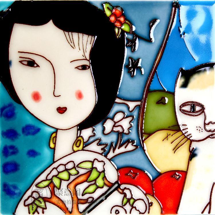 Vento cinese i dipinti di pittura decorativa di decorazioni murali cinesi Home Furnishing affari all'estero posta sacchetto regalo