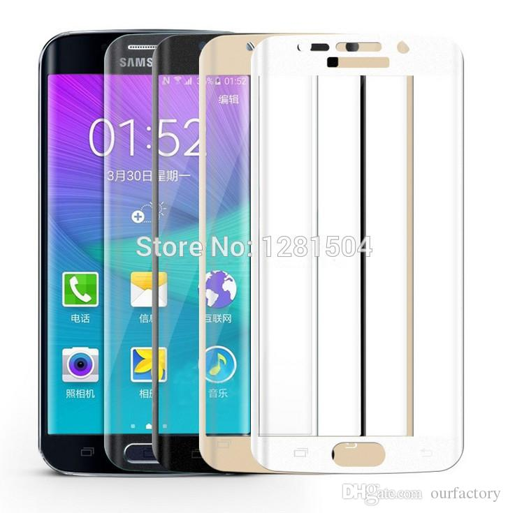 Wholesale 3D Full Curved Tempered Glass For Samsung Galaxy S6 S7 Edge Plus G935F Screen Protector 9H Film Protective 50pcs/lot
