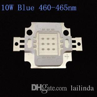 10PCS LED 10W COB haute puissance Ampoule LED Perles lampe bleue 460-465nm 670mA 9.0-12.0V 300-400LM 24 * puces 40MIL Livraison gratuite