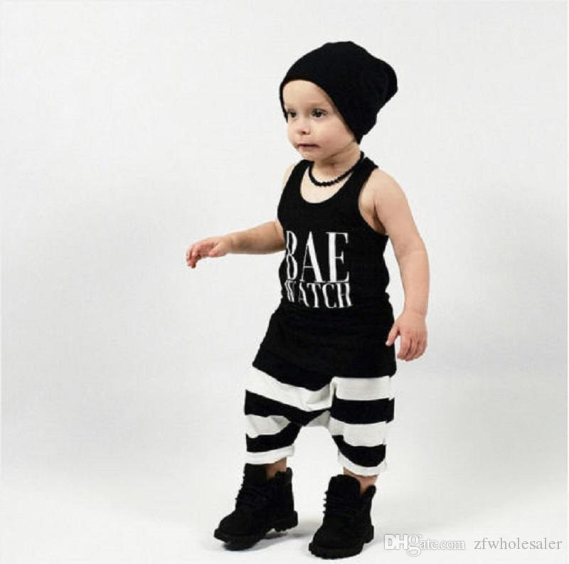 Toddler Clothing Set Baby Teen Boys Girls Clothes Boutique Kids Tracksuit Sleeveless Shirt Striped Short Pants Summer Infant Outfit Playsuit