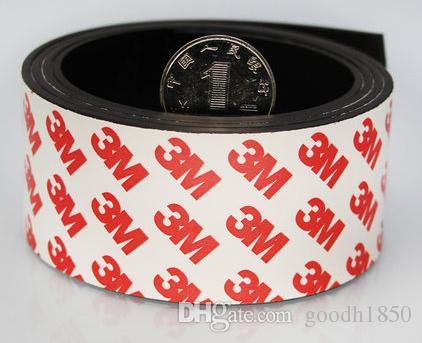 Um pc Tamanho de 1m (L) * 40mm (W) * 1.5mm (T) 3M Fita adesiva magnética, cola magnética, ímã de borracha adesiva