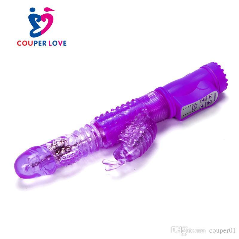 Продукты секса 36 Ускоряет Кролик Вибратор водонепроницаемый Вертикальное дилдо точки G Клитор Вибратор для взрослых Секс игрушки для женщин