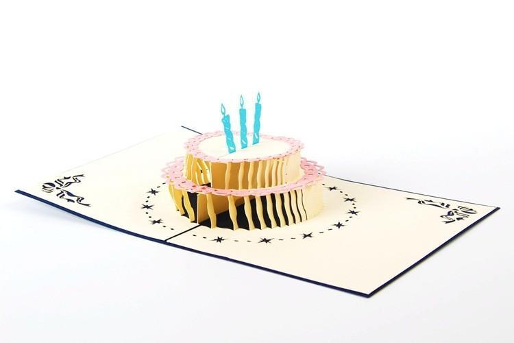 wholesale custom 3D stereoscopic creative birthday gift card Carve empty greeting card paper postcard custom print greeting