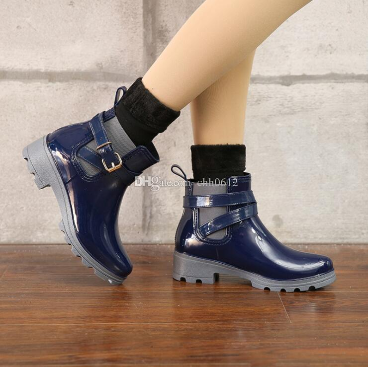 2020 Rubber Shoes Women Rain Boots For