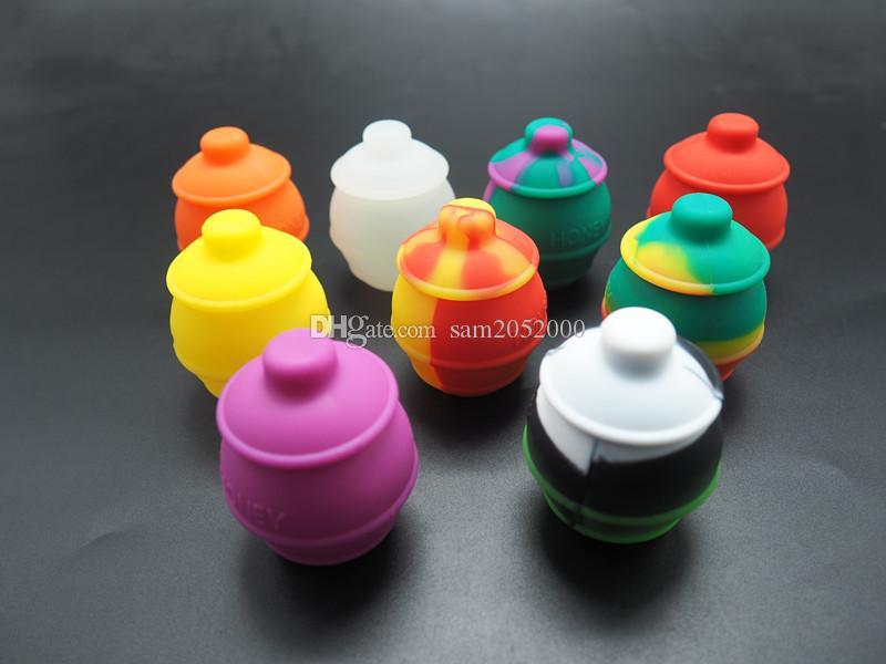 5 pçs / lote abelha caixa de embalagem de insetos frascos de armazenamento de contêiner 35ml nonstick silicone recipientes frasco de silicone