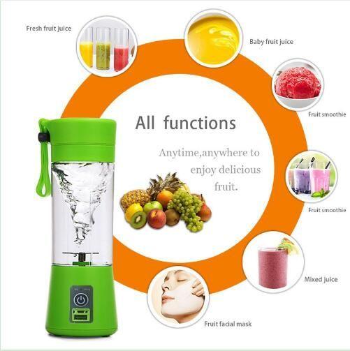 usb electric fruit juicer handheld saft mixer saft tasse flasche grün