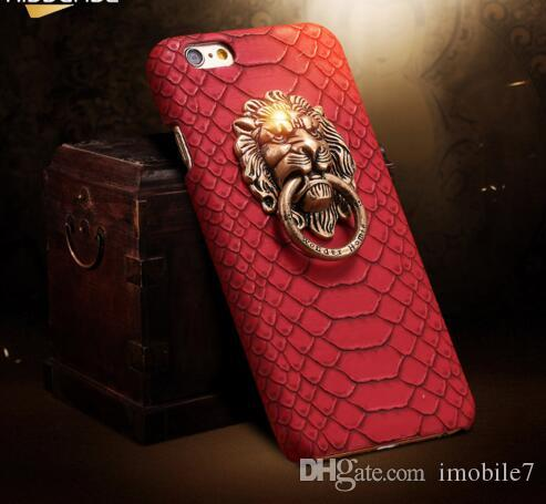 Pour iphone 7 Plus Couverture Sexy Snake Skin Phone Case Pour Apple iPhone 6 6S Pour iPhone 6 6S Plus 3D Lion Head Stand Cover Fundas
