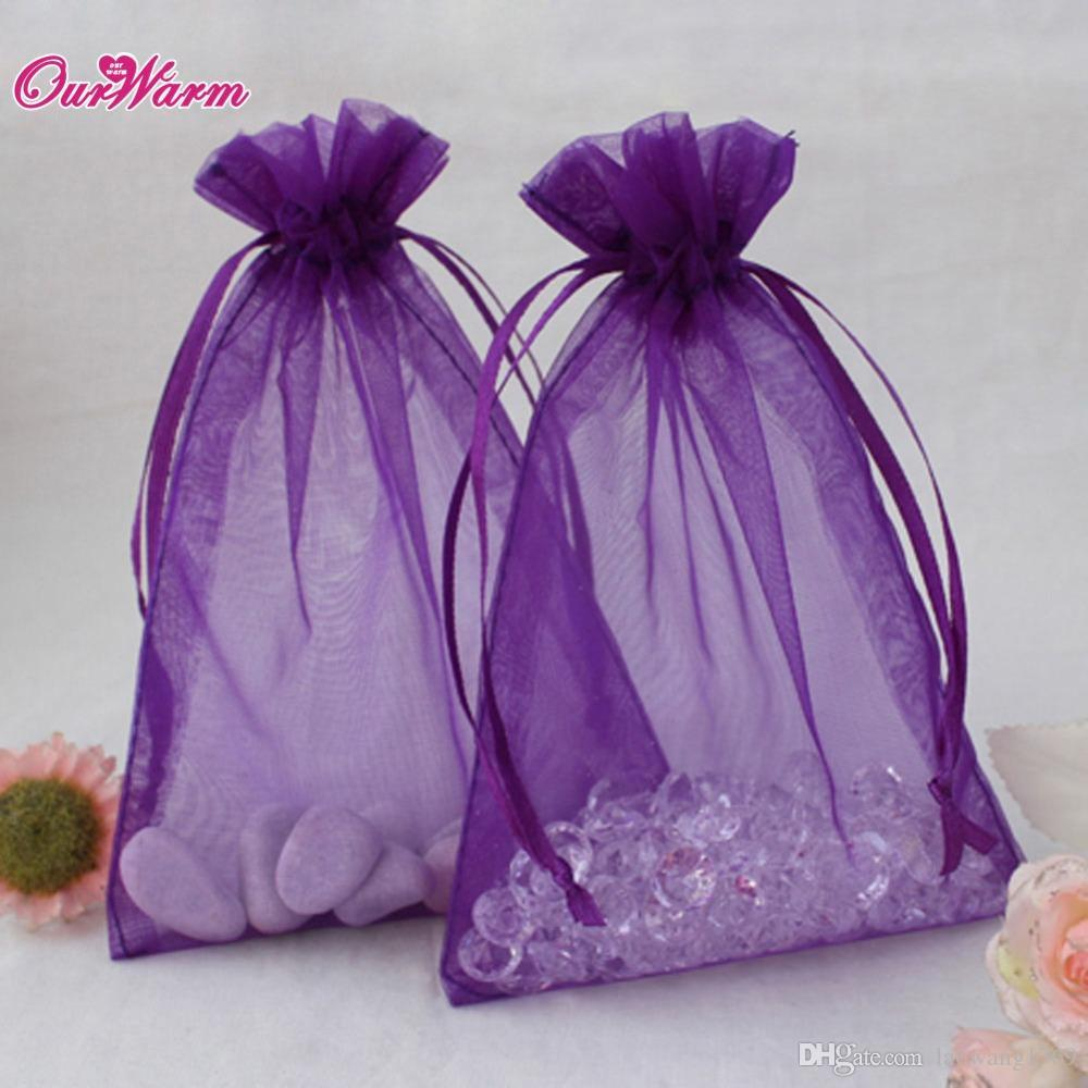 18*13CM 50pcs/lot H Shape Organza Bag Jewelry Pouch Gift Bags Wedding Favors and Gifts Cheap Organza Pouches Decoration 22Colors