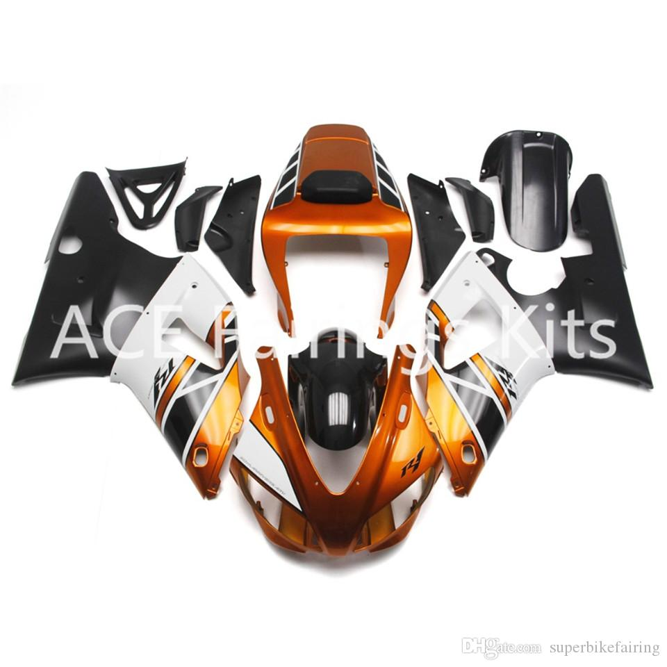 3 free gifts Complete Fairings For Yamaha YZF 1000-YZF-R1-98-99 YZF-R1-1998-1999 Motorcycle Full Fairing Kit Red golden style