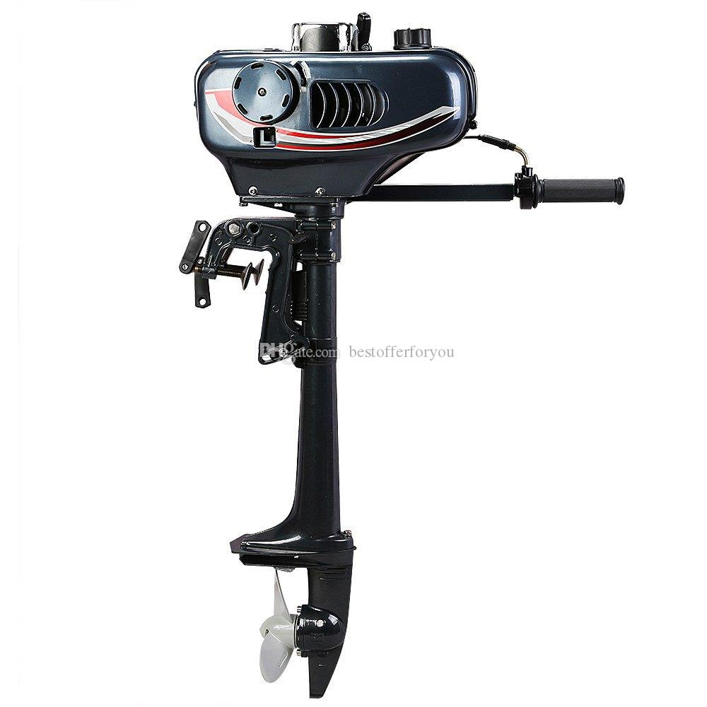 Updated 3.5HP Outboard Motor 2 Stroke Boat Engine Water Cooled 40LBS 2.5KW Trolling Thrust Fishing