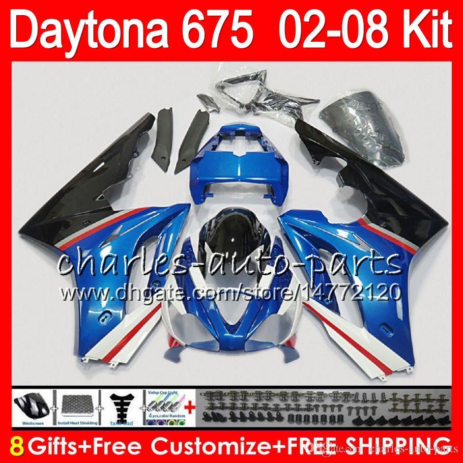 8 regali 23 colori per trionfo Daytona 675 02 03 04 05 06 07 08 Daytona675 4HM19 blu Daytona 675 2002 2003 2004 2005 2006 2007 2008 carenatura