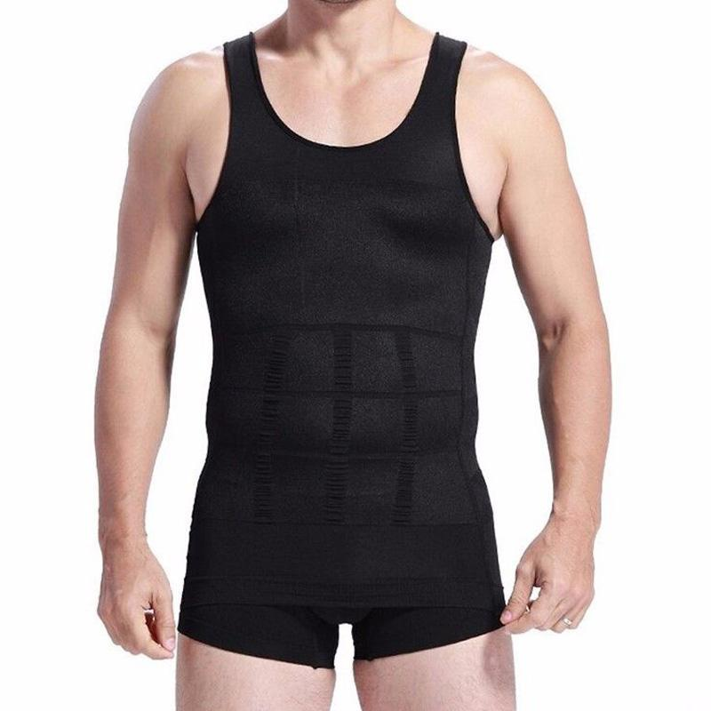 Uomini che dimagriscono Body Shaper Tummy Shaper Vest Underwear Vest Waist Chirdle Posture Corrector Fat Burning