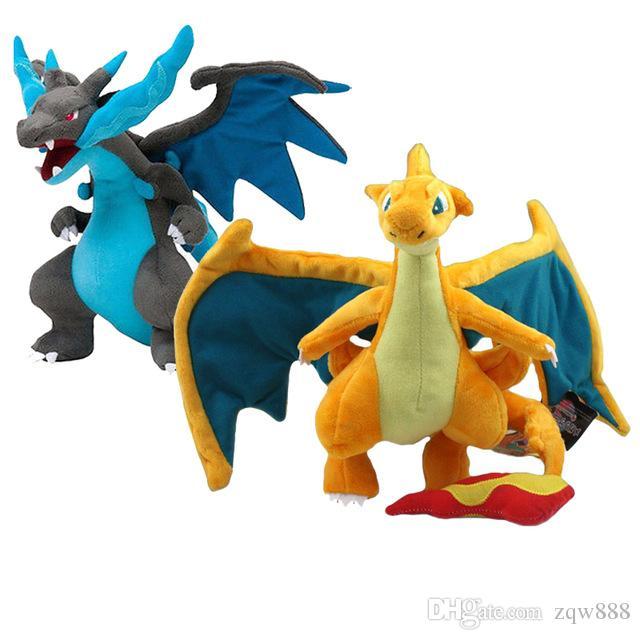"""9"""" 23 cm 2 estilos Mega Evolución XY Charizard juguetes de peluche relleno suave muñeca niños y regalo NOPO005"""
