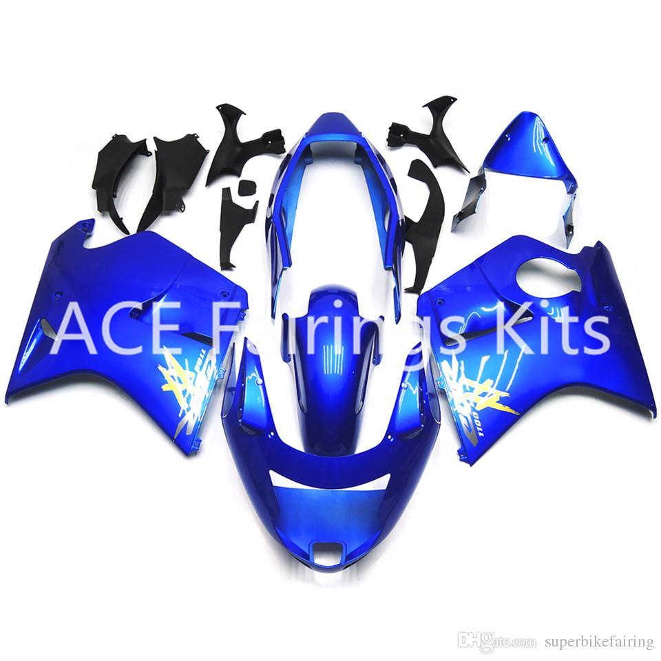 3 cadeaux gratuits pour Honda CBR1100XX CBR1100 XX 97 98 99 00 01 02 03 04 05 06 07 1997 2000 2005 2007 Carénage ABS Bleu AH8