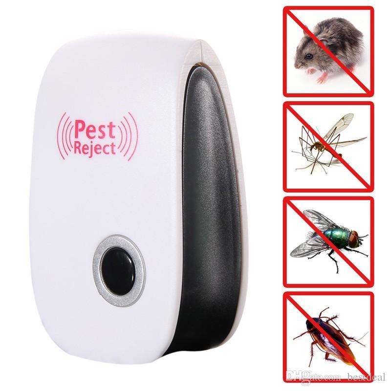 가정 전자 초음파 쥐 마우스 방충제 모기충 해충 방제 Rejest 마우스 킬러 미국 EU 표준 플러그