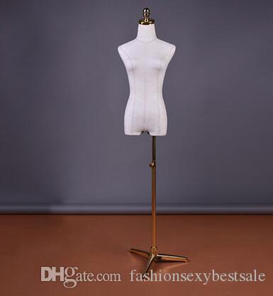 Moda all'ingrosso 2Style Mezza Corpo Femminile Placcatura Triangolare Base Wedding Window Finestra Cosmetology Cucito-manichino per vestiti 1pc B595