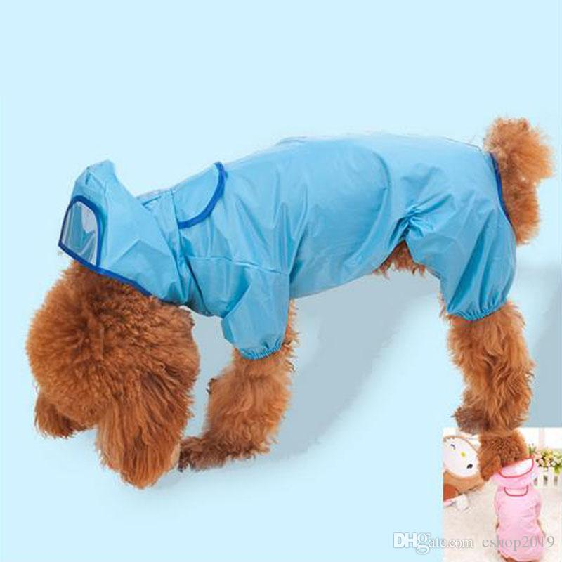 Nylon pet raincoat clothes rain coat for small dogs dog clothes yorkie clothes for puppies products for animals free shipping