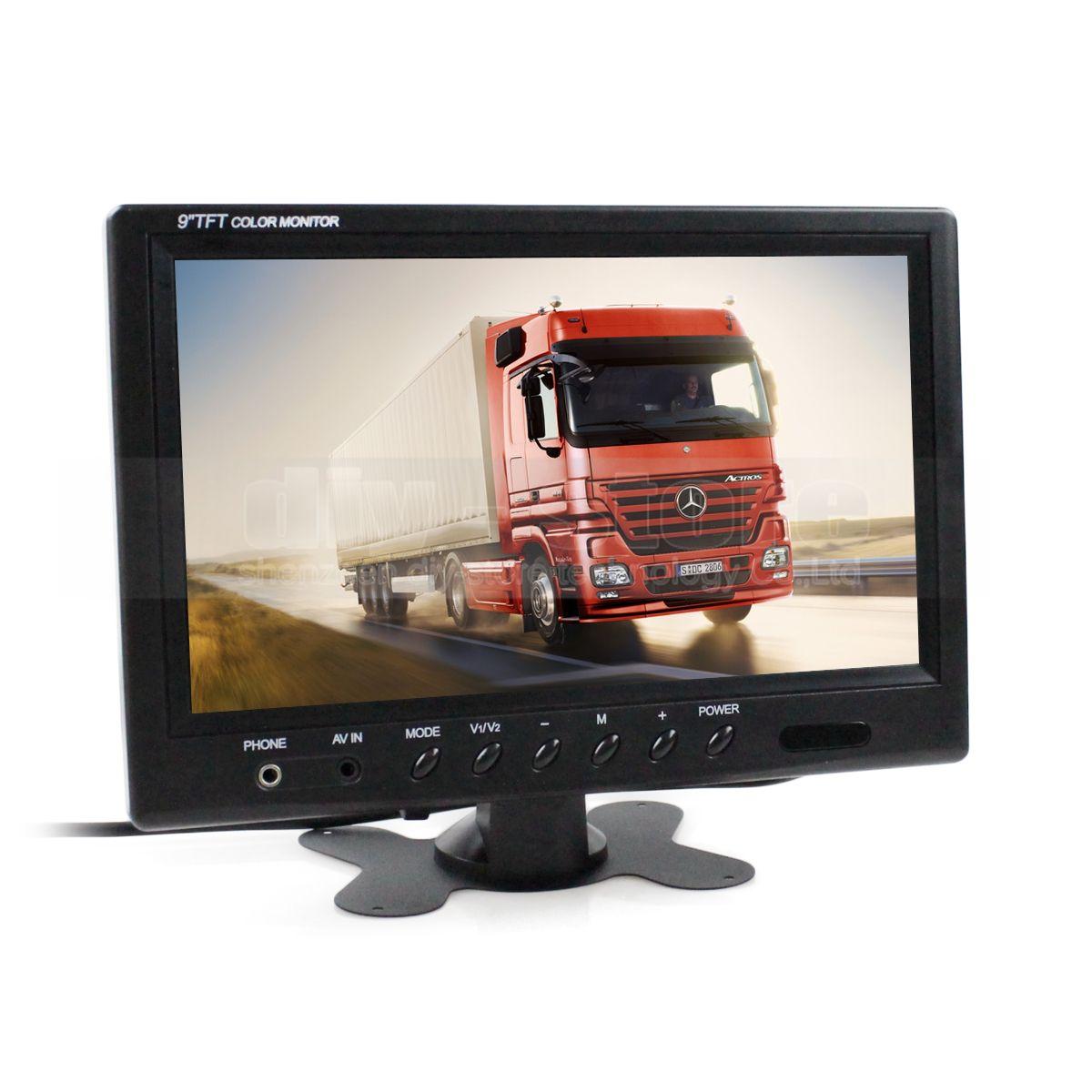 Pantalla de monitor de monitoreo de seguridad de video monitor TFT LCD HD del monitor de la vista posterior del monitor de 9 pulgadas Vista posterior con entrada BNC / AV