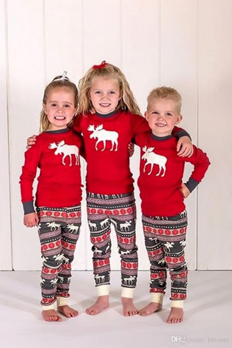 ottenere a buon mercato 61a75 b1305 Acquista Pigiama Di Natale La Famiglia Vestiti Uguali Set Deer Età Donne  Uomo Bambini Bambino Renna Gli Indumenti Da Notte Da Notte Pjs Famiglia Che  ...