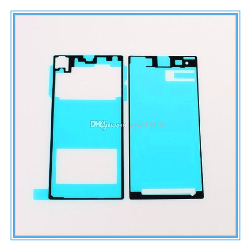 5 Sets=10pcs New Replacement LCD Front Frame Housing + Back Battery Door Cover Adhesive Glue Sticker For Sony Xperia Z1 L39h Free Shipping