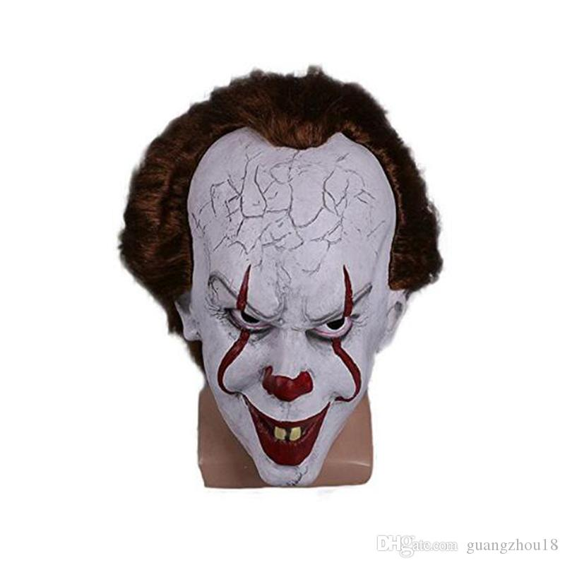 2017 Christmas mask TOY Pennywise Costume It The Movie By Stephen King it Scary Clown Mask Men's Cosplay Prop free shipping 100pcs