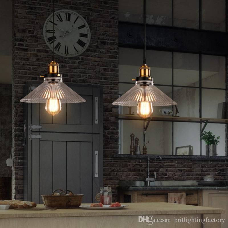 lampada a sospensione in vetro per la casa lampade a sospensione colorate sala da pranzo lampada a sospensione corda rustica edison cucina a led studio bar studio luci da lavoro