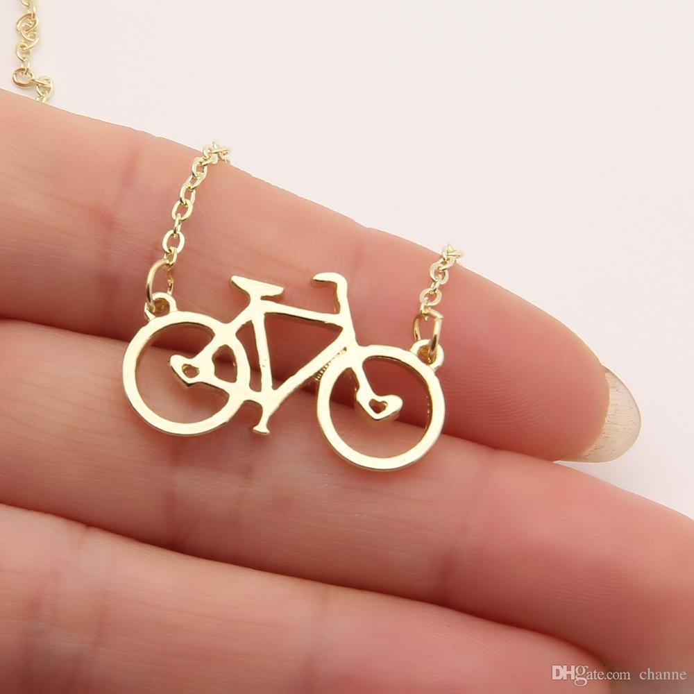 10 PC 자전거 목걸이 경주 자전거 자전거 타는 사람 실버 스핀 클래스 크리스마스 선물 초커 여성 목걸이 펜던트