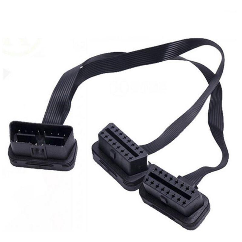 1 bis 2 Adapter Linie Flachbandkabel 16 Pin OBD2 Verlängerung Linie 90 Grad Ellenbogen Draht L Typ OBD Kabel Adapter Verwenden Für OBD2 Schnittstelle Autos HEIßER