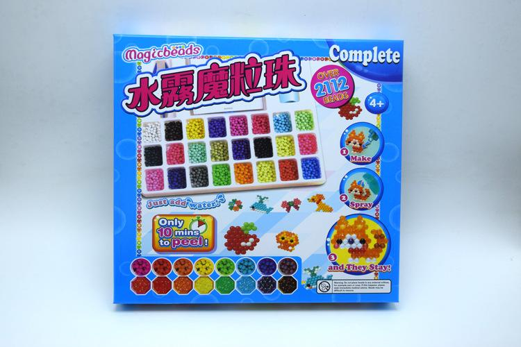 2000pcs 24 Colour DIY Water Sticky Magic Beads Pegboard Complete Set Fuse Beads Jigsaw Puzzle Water Beadbond Magically Joins With Water