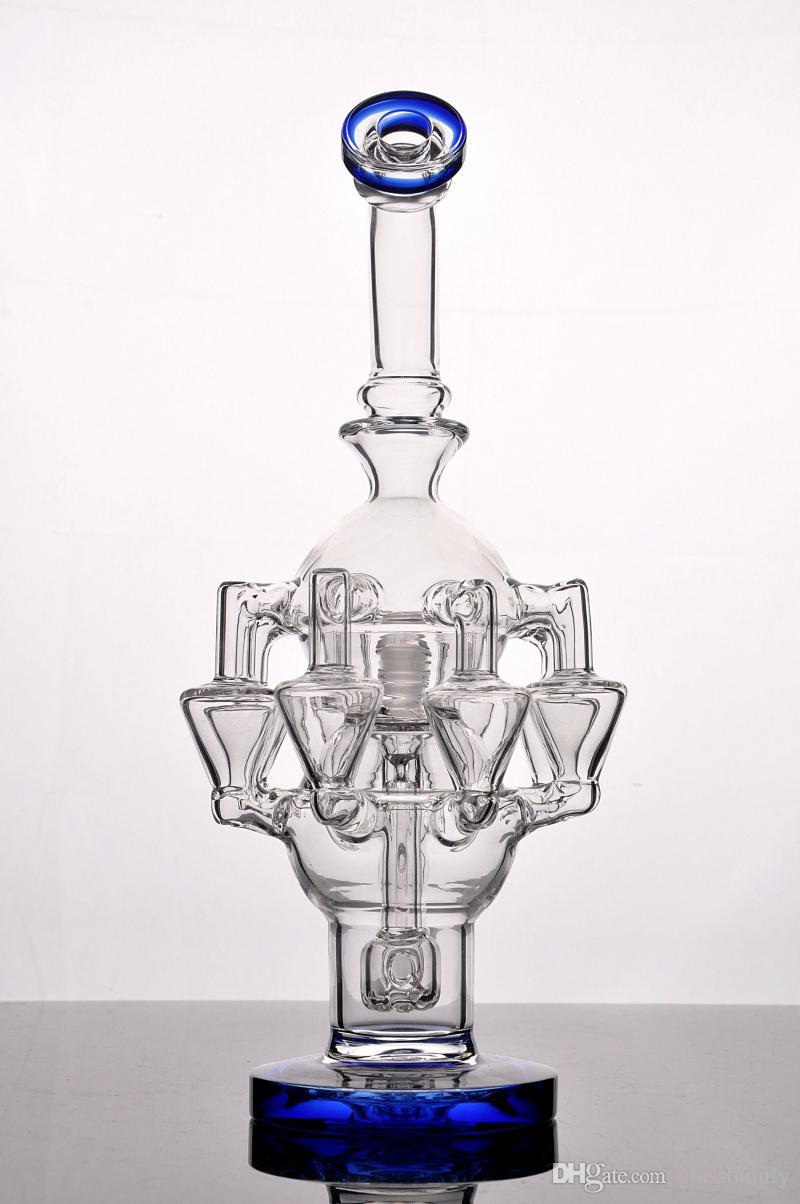 8 arm perc glass bong large Percolator glass bubbler oil rig water pipe