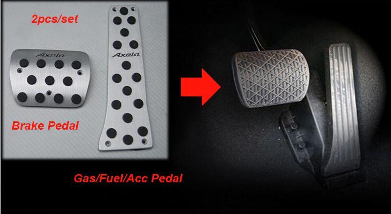 [LHD] سبائك الألومنيوم مسرع سيارة / الفرامل / دواسة القدم الراحة عدم الانزلاق دواسة لمازدا 3 أكسلا 2014 الداخلية دواسة سيارة 1P Stryling