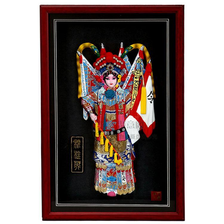 Personaggi dell'opera di Pechino, cornici, ciondoli, festival cinesi in primo piano, regali di compleanno, regali, affari esteri, regali aziendali