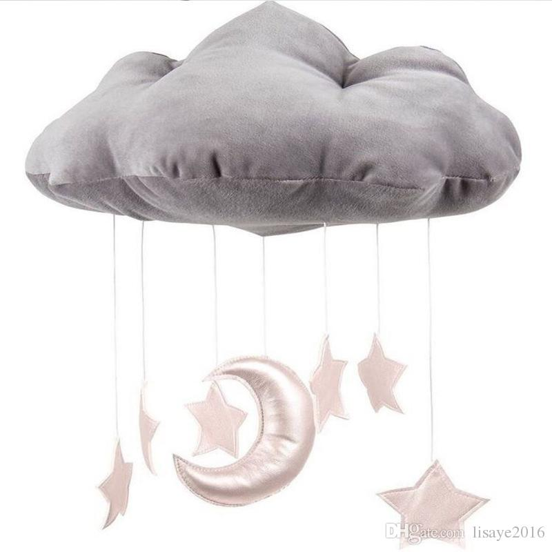 INS baby room decoration 3D clouds Star Baby crib accessories Take pictures of the scene Props newborn bed Ornaments