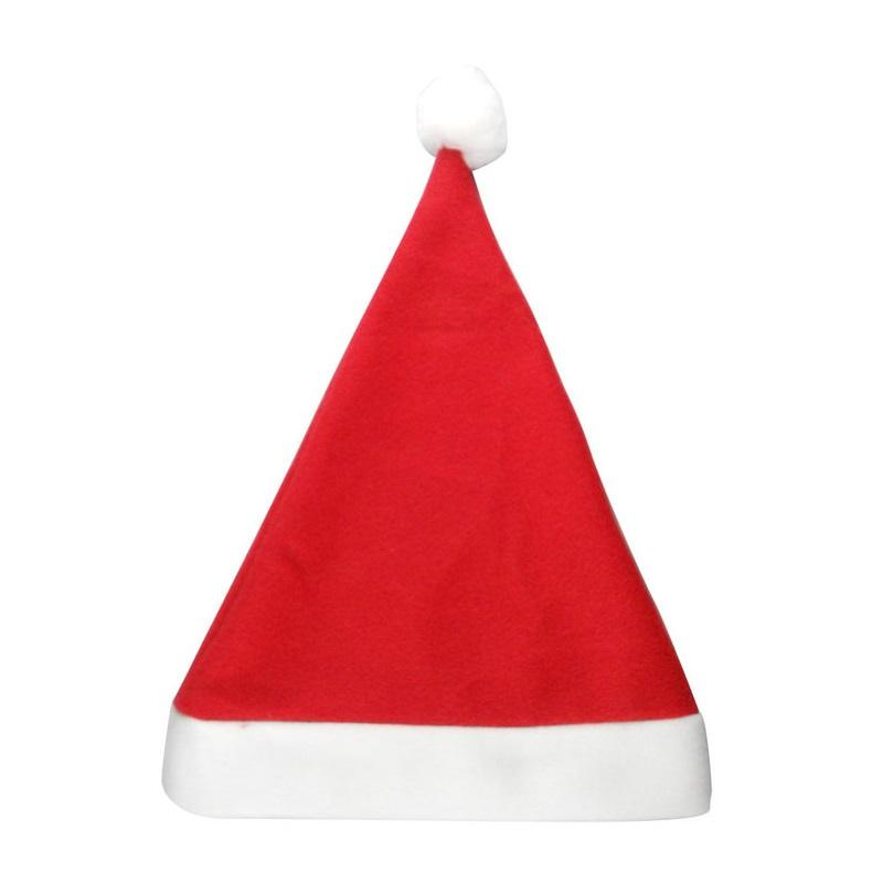 1000Pcs Christmas Hat Caps Non -Woven Fabric Hat Xmas Santa Claus Father Cotton Cap Christmas Gift Hats For Adult Kid Za 1157