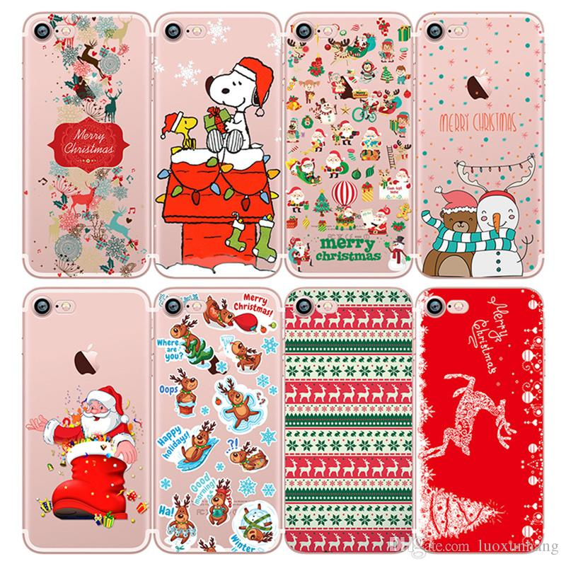 Christmas Phone Case Iphone 7.Christmas Phone Case For Iphone 7 Cover Soft Silicon Santa Claus Christmas Animals Deer Back Cover For Iphone 5 5s Se 6 6s Best Phone Cases Buy Cell