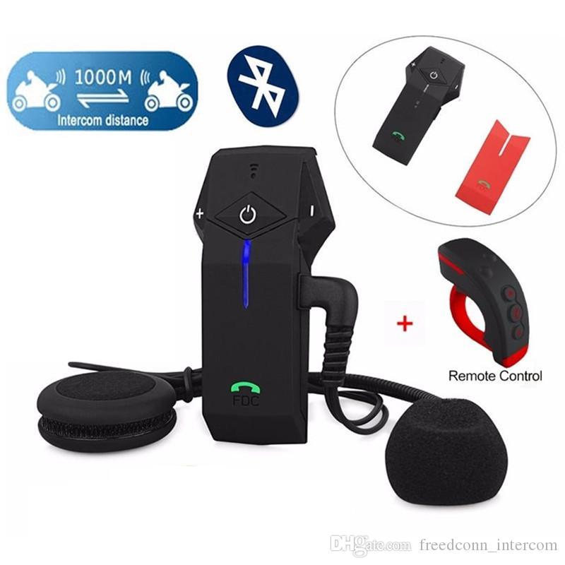 Freedconn Interfono moto Intercom moto Kit con telecomando di cuffie COLO-RC