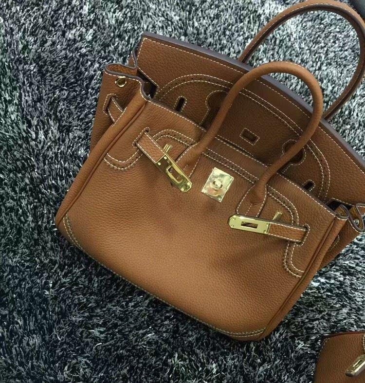 2016 Luxury H Handbag Women\`s Litchi Cowhide Messenger Bag Genuine Leather Famous Designer Shoulder Crossbody Totes Ladies Bolsa (17)