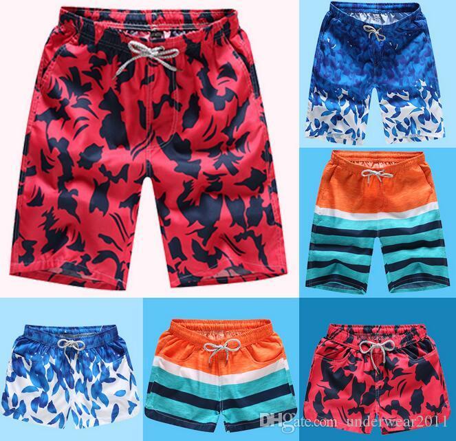 оптовые мужские купальники мужские плавательные пляжные шорты быстросохнущие влюбленные Купальники Mans half Swimsuit 24 цвета 3 кармана Free DHL D526
