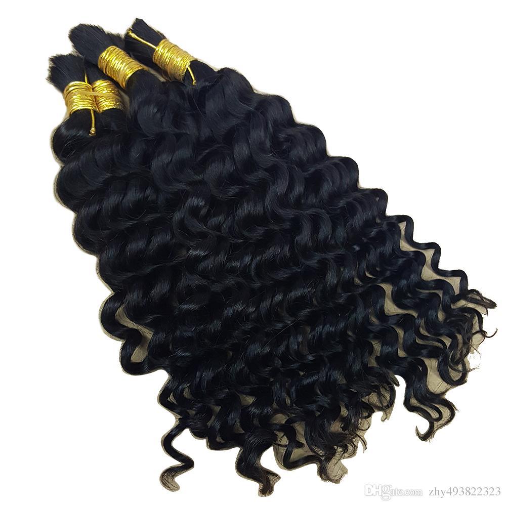 Profonde vague bouclée en vrac cheveux pour Tressage Afro profonde vague bouclée cheveux humains pour Tressage en vrac Non Attachement Crochet Tresses