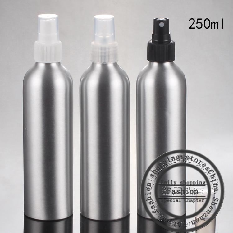 Новый, 20шт, 250 мл спрей алюминиевая бутылка, спрей тонкий туман флаконы духов, косметические точки розлива, многоразового бутылки