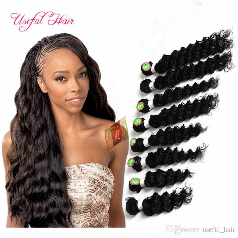Çin İnsan saç dokuma 8 demetleri ombre saç demetleri gevşek dalga derin kıvırcık Brezilyalı İnsan atkı marley örgü saç uzantıları örgüleri