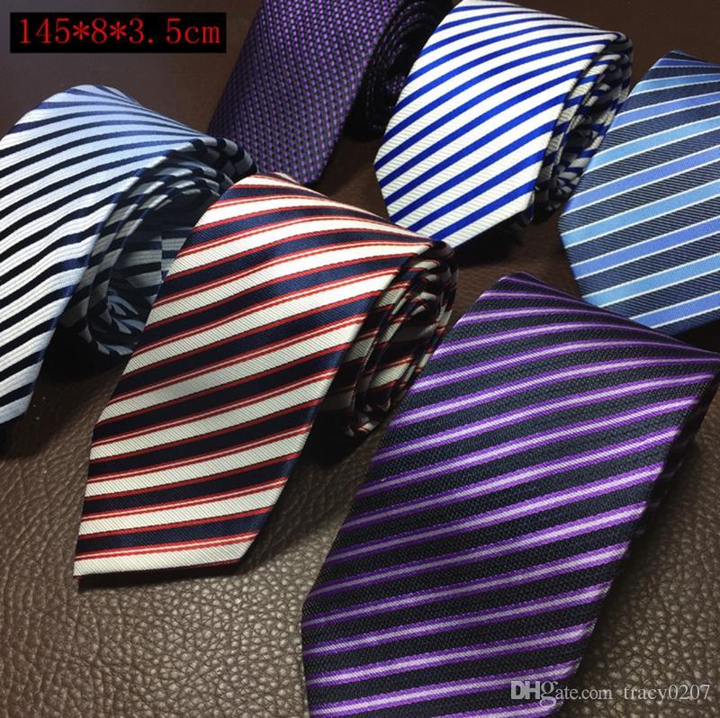 En gros 2016 chaude Mode 8 cm Soie Cravate Hommes Robe Cravate De Mariage Business robe noeud cravate Pour Hommes Cravates De Mariage Cravate
