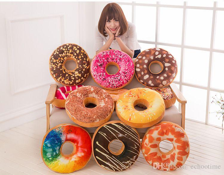 Doughnut Hamburger Cushion Covers Pillow Case Decorative Throw Pillows Covers Christmas Gifts 13 Colors Stock! Free Shipping