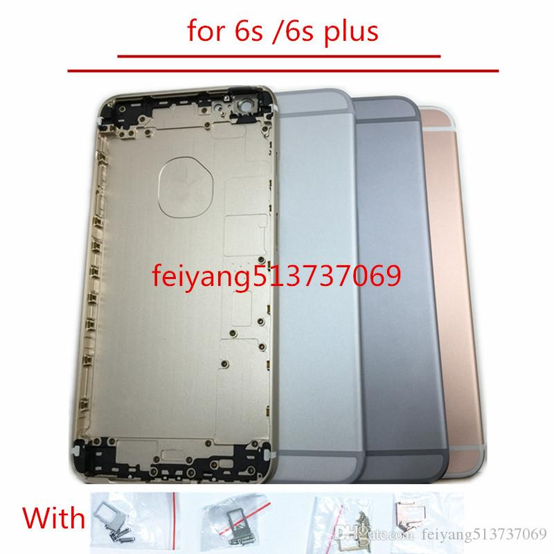 """A quality Full Housing Back Battery Cover Middle Frame Metal For iPhone 6s 4.7""""/6s plus 5.5"""" Replacement Part"""
