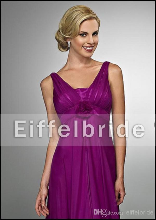 2016 Elegant Maternity Bridesmaid Dress Patterns V Neckline Empire ...