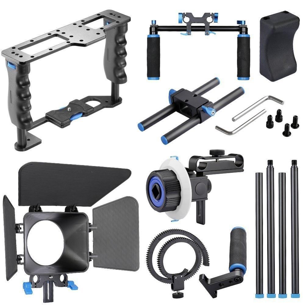 DSLR-4-in-1-Rig-Kit-Camera-Cage-Shoulder-Mount-Matte-Box-Follow-Focus-for-5D (5)