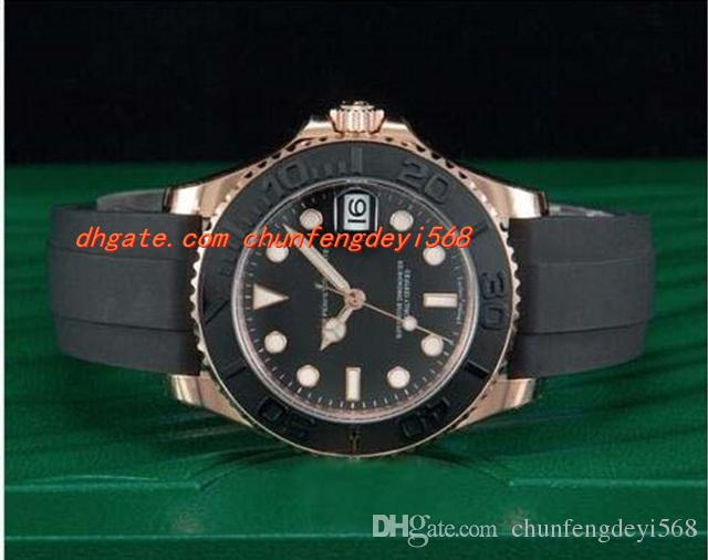 Luxury Watches 40mm Mechanical Automatic Sapphire Glass 18kt Everose Gold Black Rubber Strap Mens Watch Waterproof Luminous