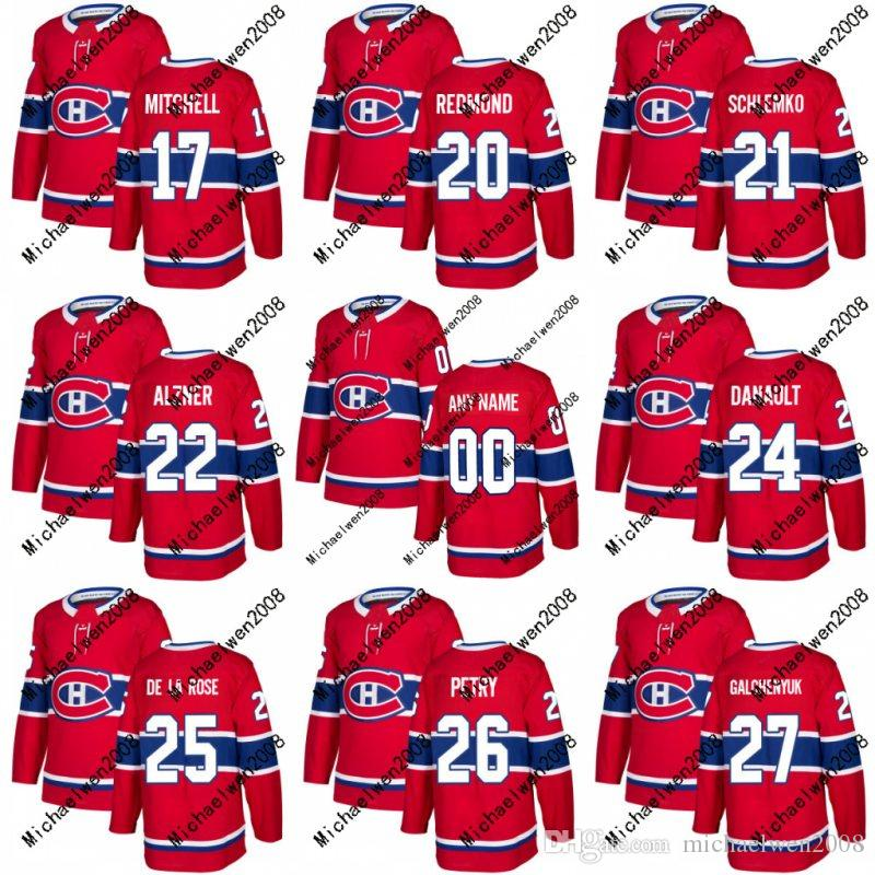 Mens Frauen Jugend 17 Torrey Mitchell Trikot 2017-2018 Saison Montreal Canadiens 20 Zach Redmond 21 David Schlemko Benutzerdefinierte Hockey Trikots